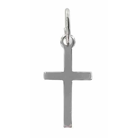 Croce liscia in argento 925 - 2 cm