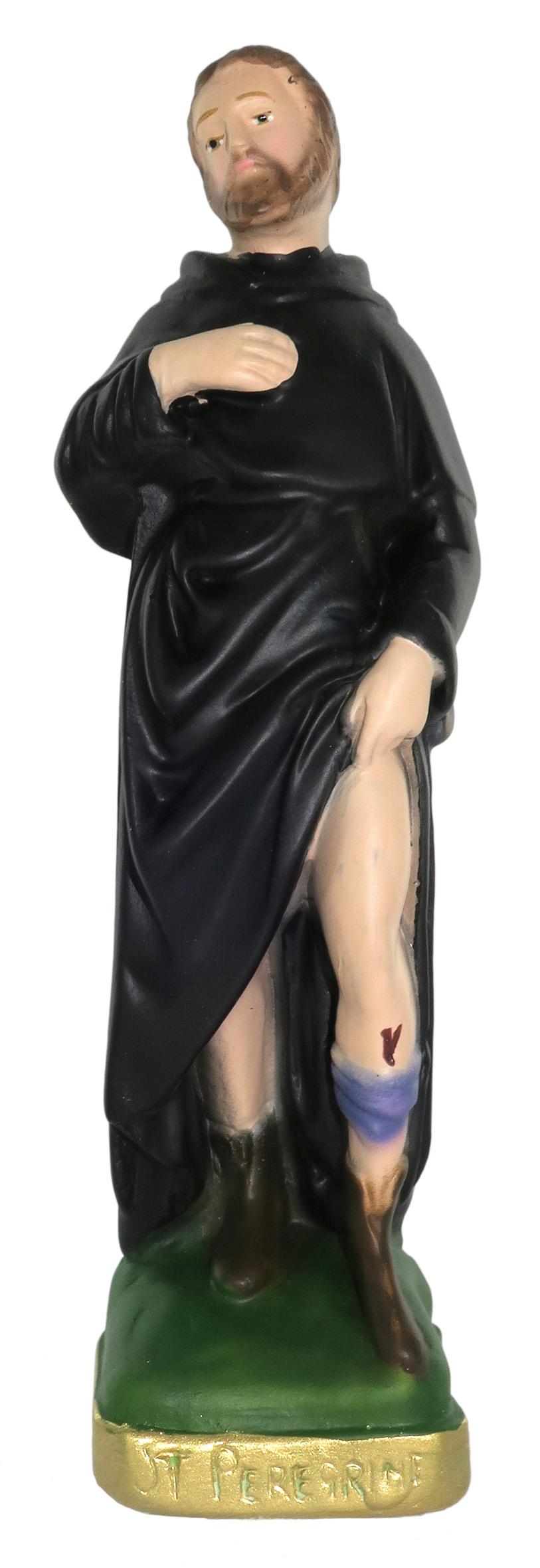 Ferrari /& Arrighetti Statua Santi Cosma e Damiano in Gesso Dipinta a Mano 20 cm
