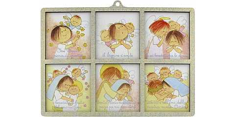 STOCK : Quadretto Ave Maria 2 livelli - 15 x 20,5 cm