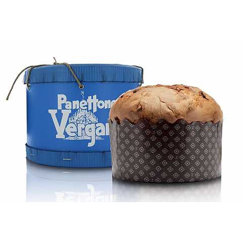 Panettone Excellence in scatola a cilindro blu, ricetta tradizionale milanese - 3kg