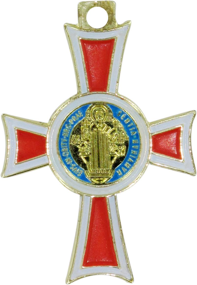 Stock croce san benedetto coniata con bagno d 39 oro for Bagno d oro